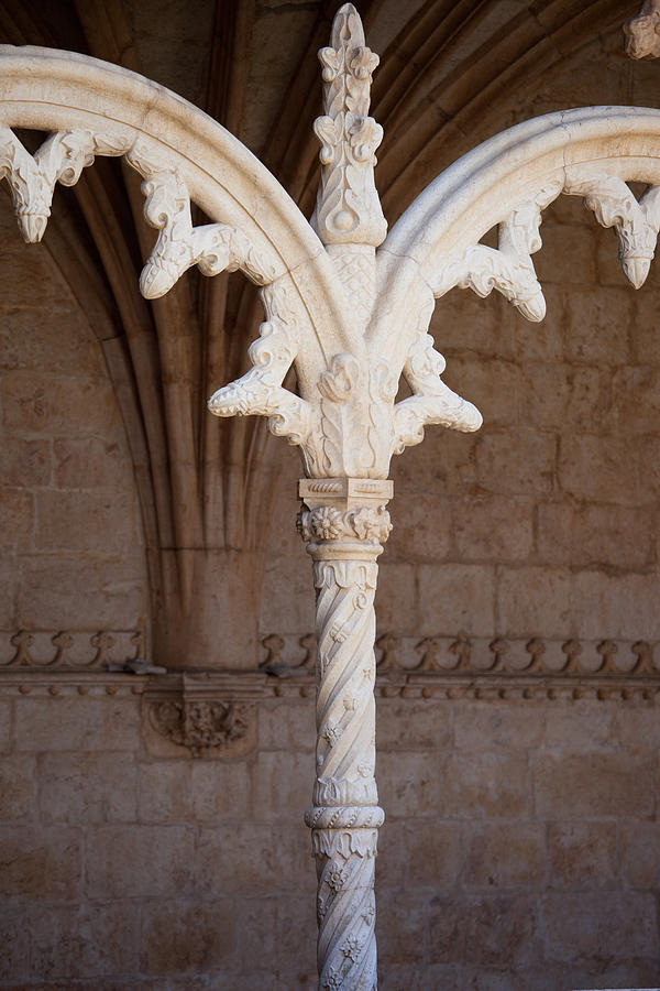 Jeronimo Photograph - Architectural Details Of Jeronimos Monastery In Lisbon by Artur Bogacki