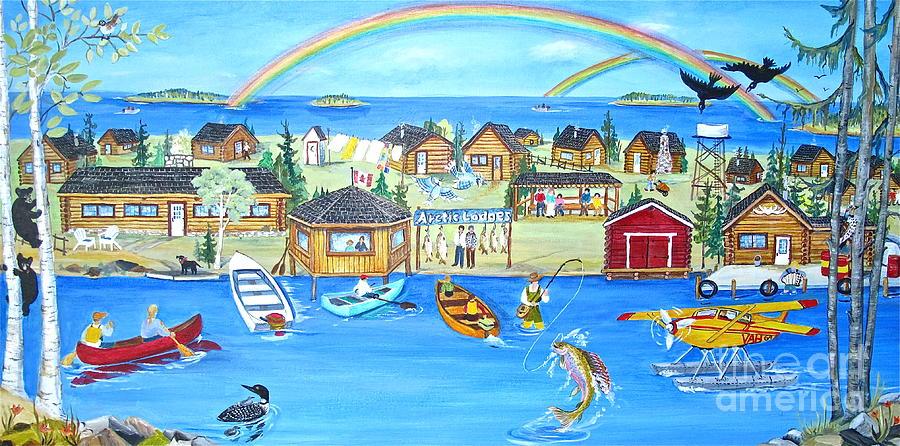 Caag Painting - Arctic Lodges by Virginia Ann Hemingson