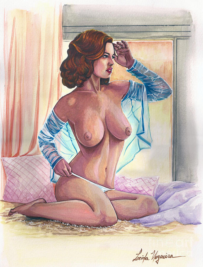 Pinup Painting - Artistic Nude by Leida  Nogueira