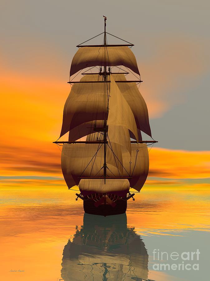 At Full Sail Digital Art by Sandra Bauser Digital Art