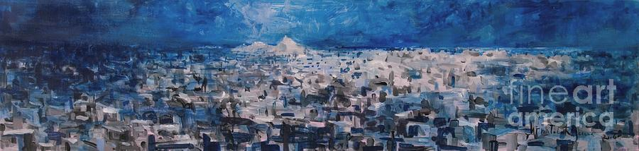 Athens Painting - Athens Is Sleeping by Jelena Ignjatovic