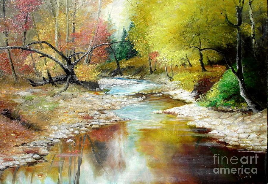 Tree Painting - Autumn by Sorin Apostolescu