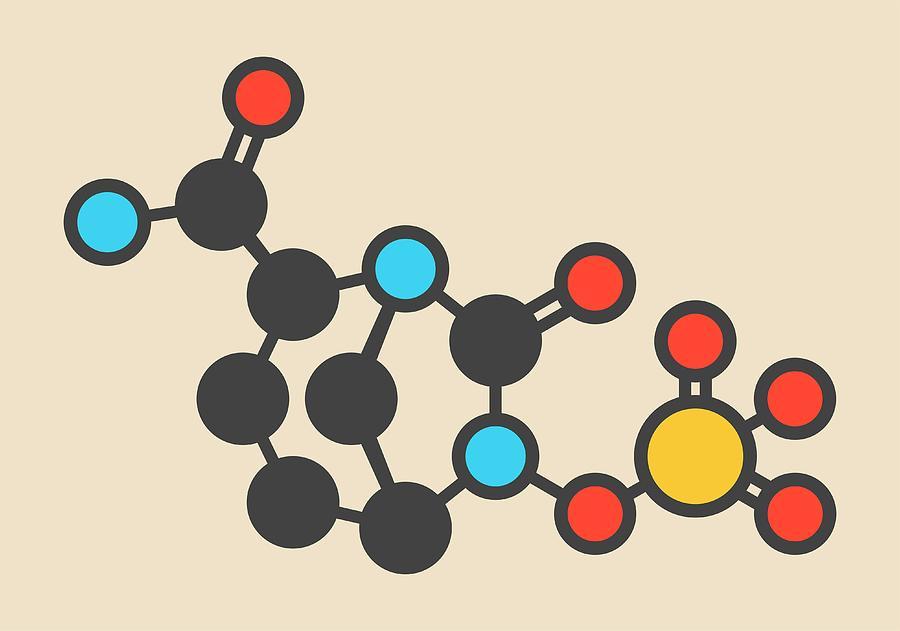 Inhibitor Photograph - Avibactam Drug Molecule by Molekuul