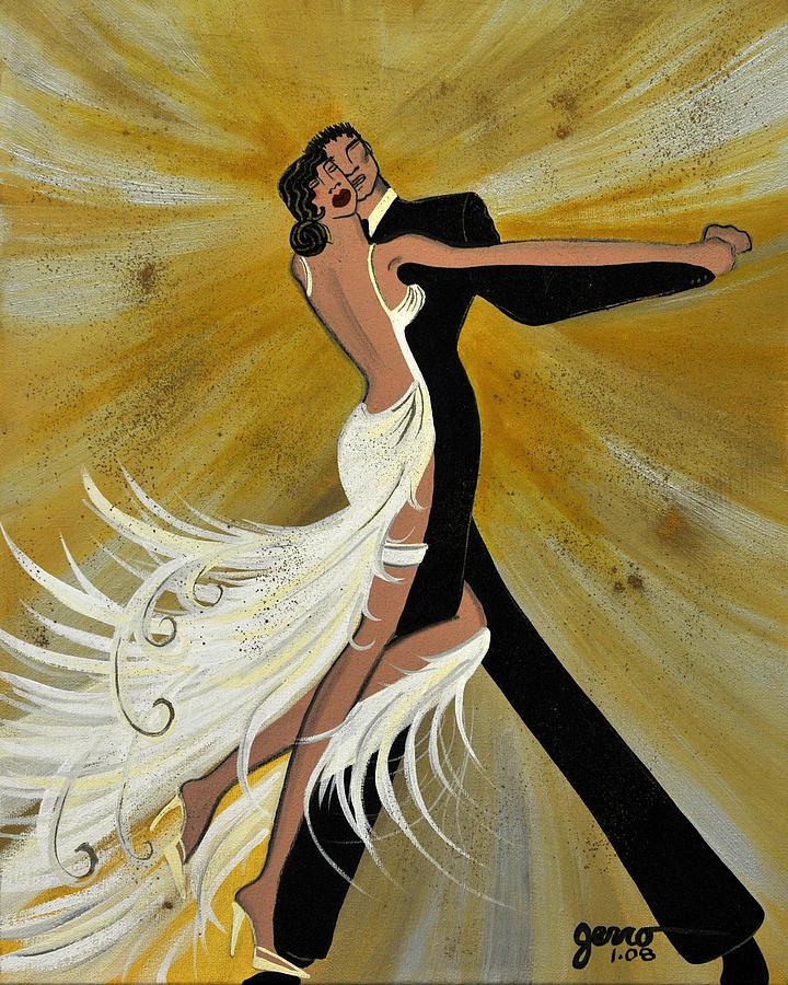 Ballroom Painting - Ballroom Dance by Helen Gerro