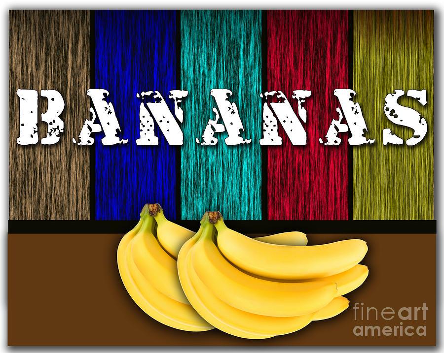 Bananas Mixed Media - Bananas by Marvin Blaine