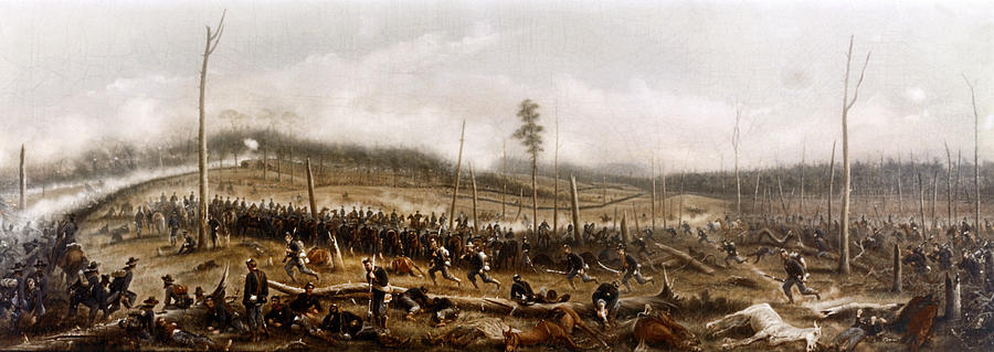 1863 Painting - Battle Of Chickamauga, 1863 by James Walker