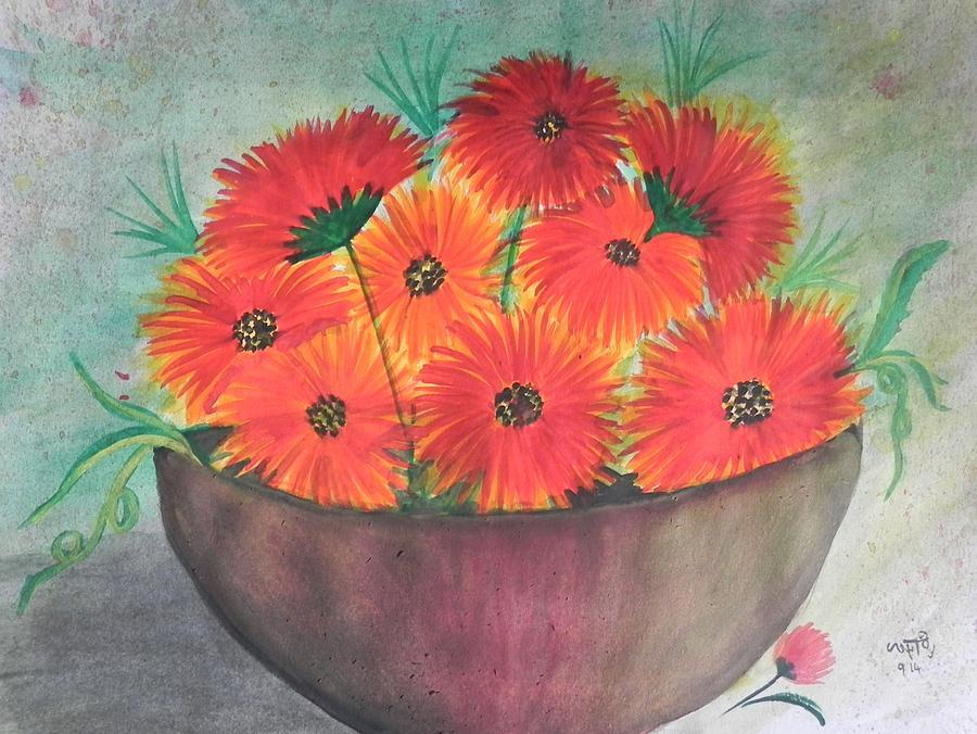 Watercolor Painting - Beauty by Usha Rai