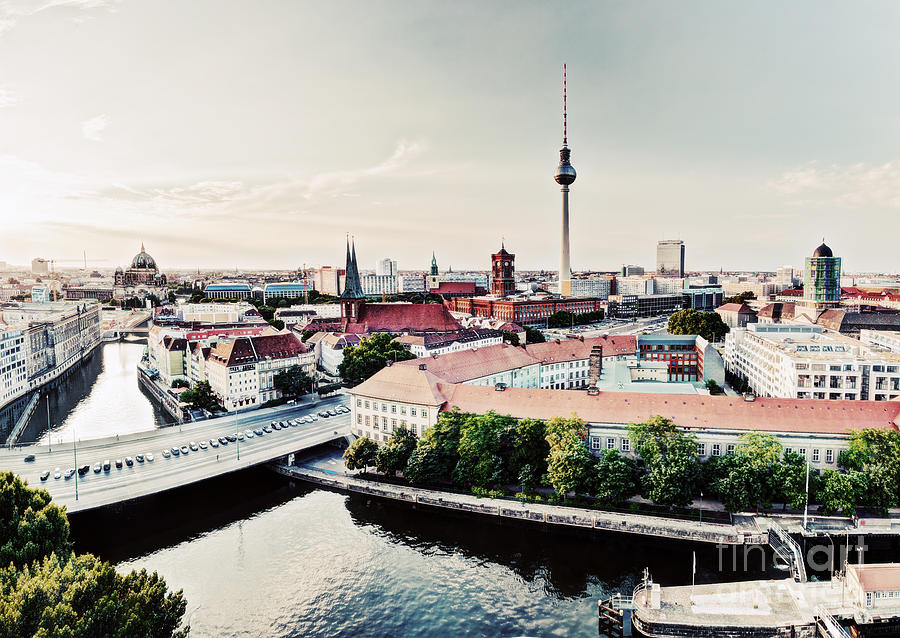 Berlin Photograph - Berlin Germany View On Major Landmarks by Michal Bednarek