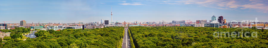 Berlin Photograph - Berlin Panorama by Michal Bednarek