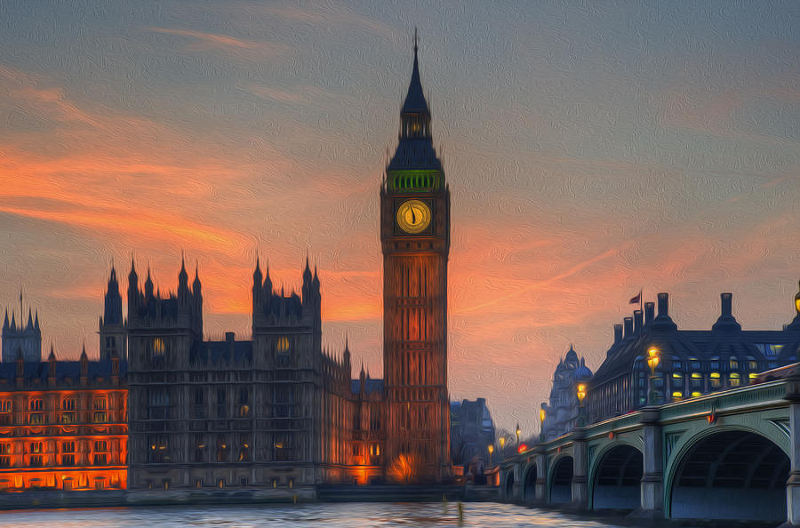 Big Ben Parliament Wesminster London Digital Painting