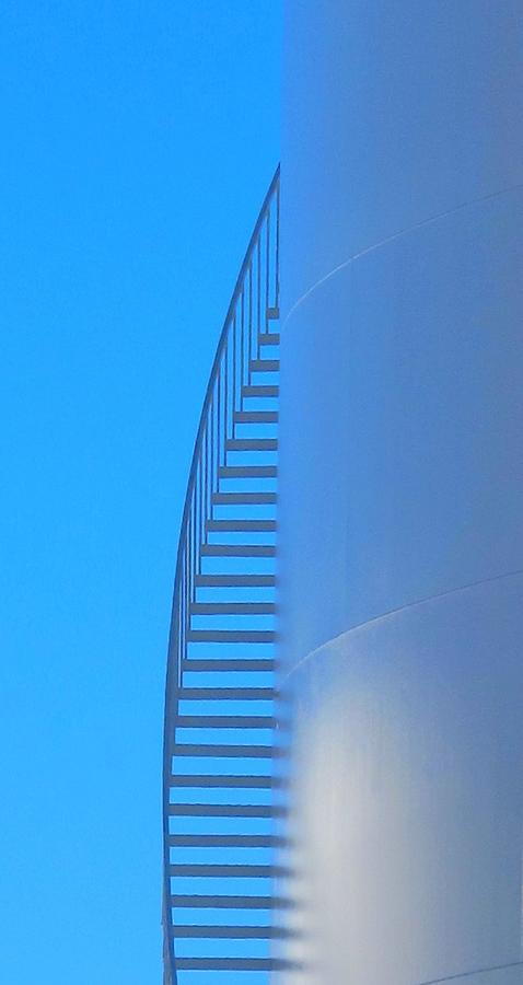 Stairs Photograph - Blue Stairs by John King