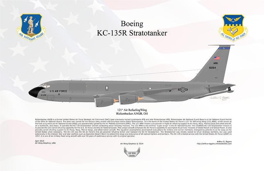 Boeing Digital Art - Boeing Kc-135r Stratotanker by Arthur Eggers