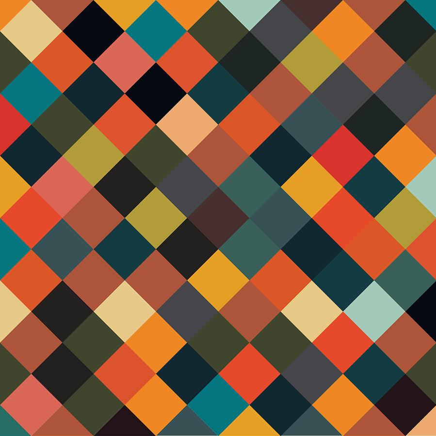 Bold Geometric Print Digital Art By Mike Taylor