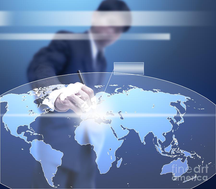 Accounting Mixed Media - Business Abstract by Atiketta Sangasaeng