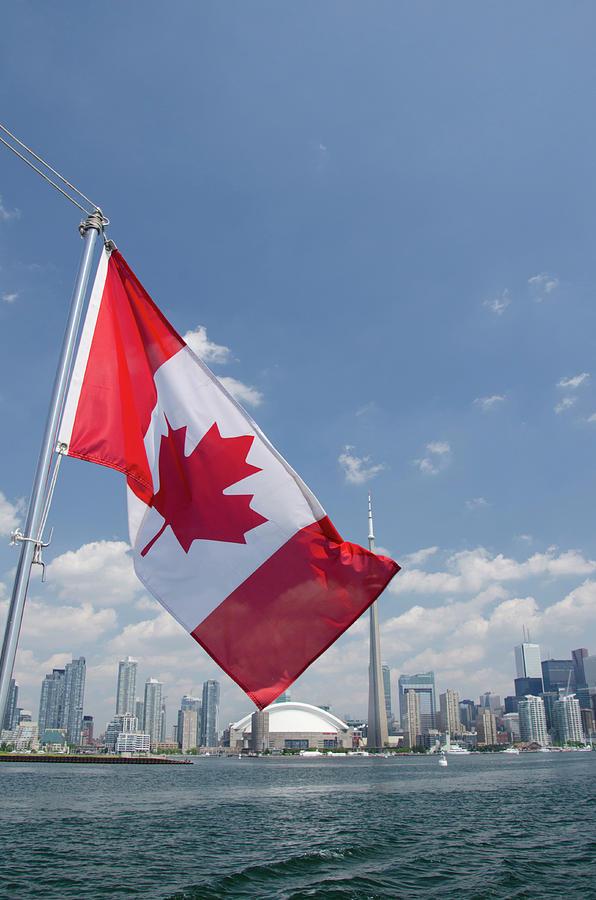 Blue Sky Photograph - Canada, Ontario, Toronto by Cindy Miller Hopkins