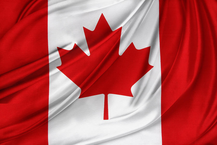 Flags Photograph - Canadian Flag  by Les Cunliffe