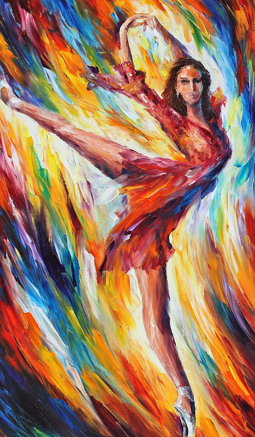 Dance Painting - Candle Fire by Leonid Afremov