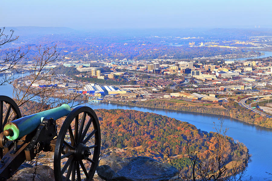 View Photograph - Chattanooga In Autumn by Melinda Fawver