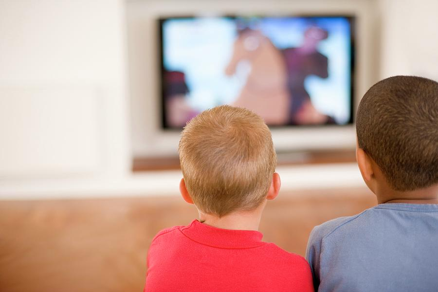 Human Photograph - Children Watching Television by Ian Hooton/science Photo Library