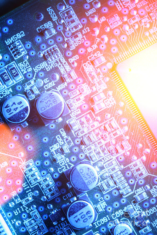 Circuit Photograph - Circuit Board Abstract by Konstantin Sutyagin