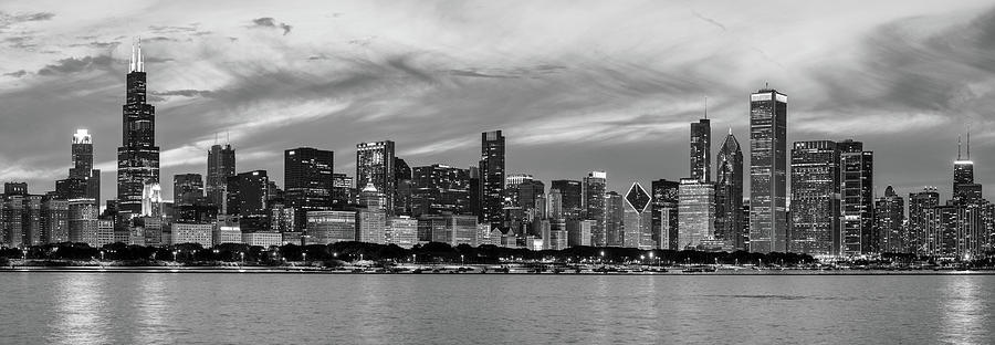 Horizontal Photograph - City At The Waterfront, Lake Michigan by Panoramic Images