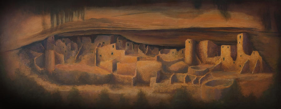 Mesa Verde Painting - Cliff Palace by Jerry McElroy