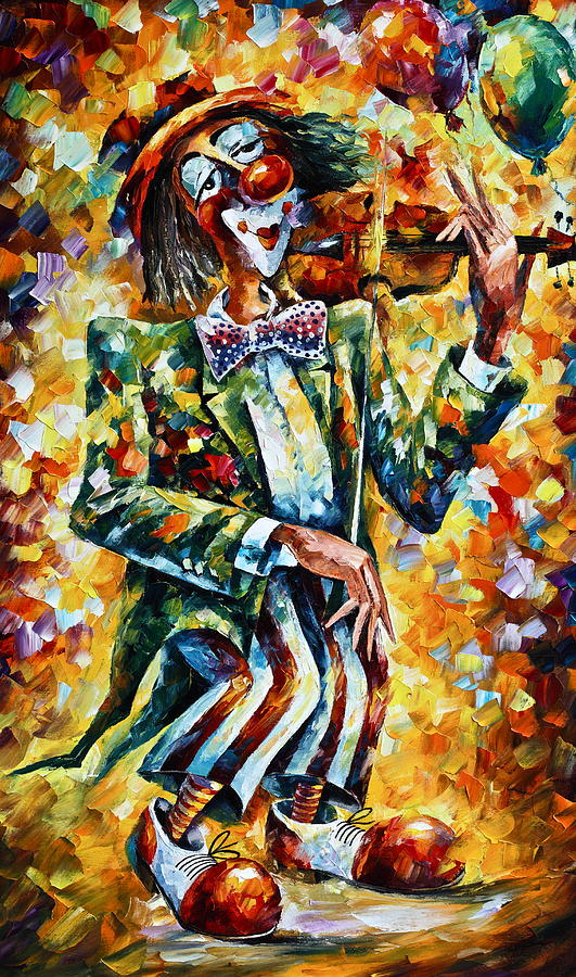 Clown Painting - Clown by Leonid Afremov