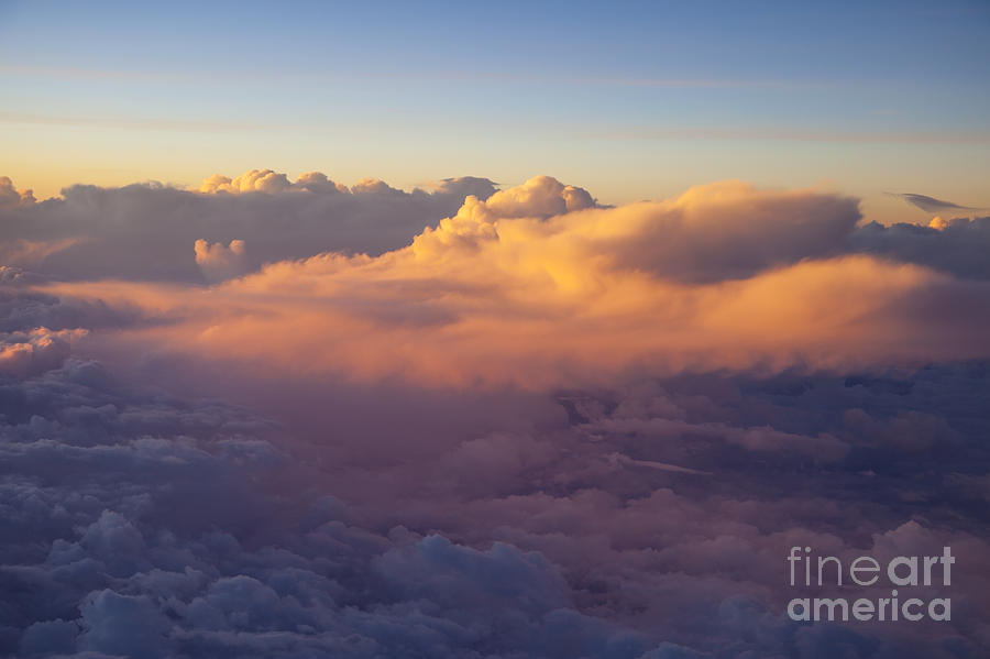 Above Photograph - Colorful Clouds by Brian Jannsen