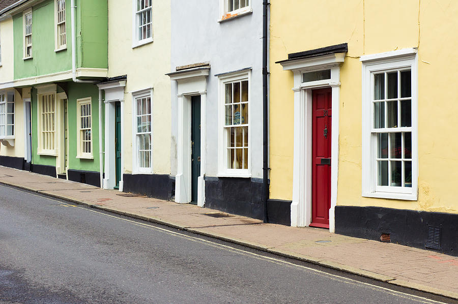 Architecture Photograph - Colorful Houses by Tom Gowanlock