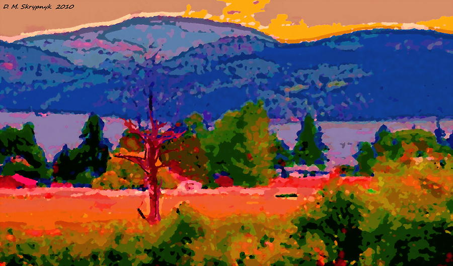 Doman Digital Art - Cowichan Bay From Domans Road by David Skrypnyk