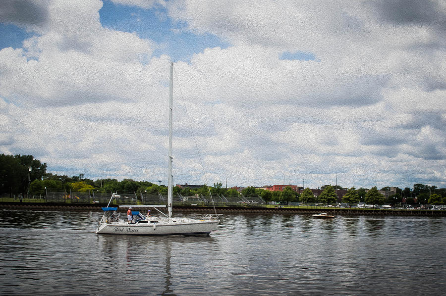 Cruising Photograph - Cruising The Saginaw River by Tom Causley