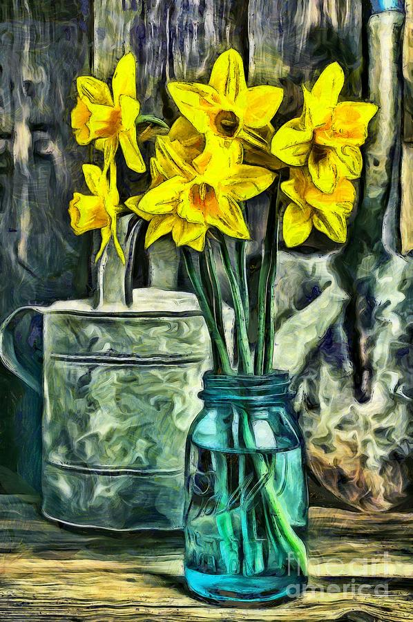 Daffodils Photograph - Daffodils by Edward Fielding