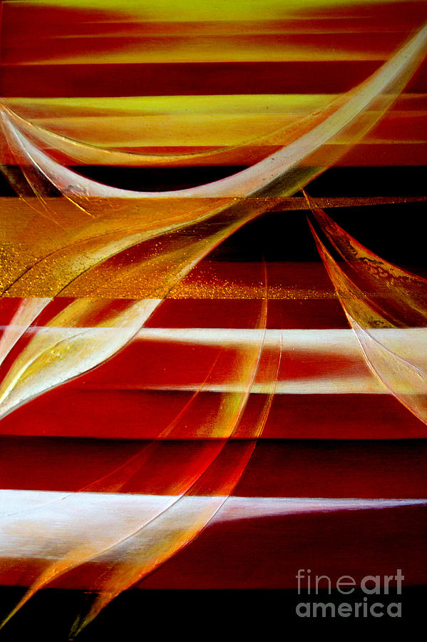 Abstract Painting - Departure by Kumiko Mayer