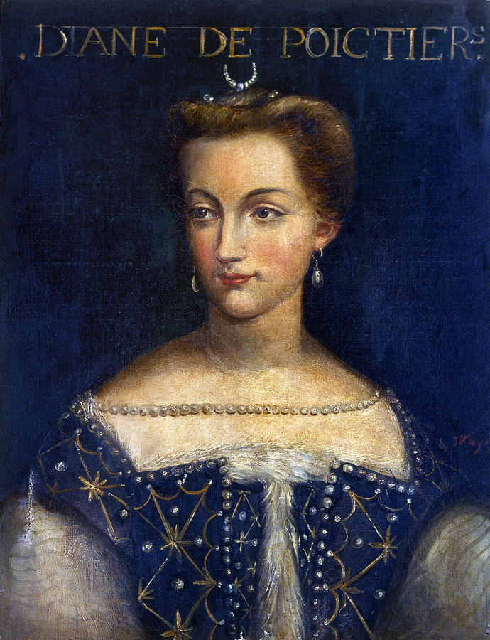 16th Century Painting - Diane De Poitiers (1499-1566) by Granger