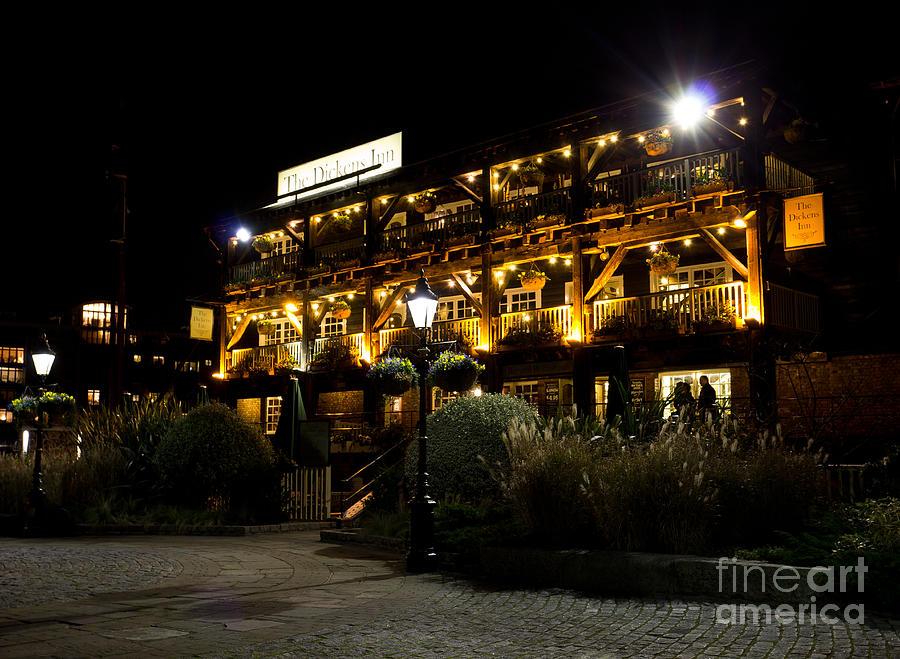 Dickens Photograph - Dickens Inn Pub St Katherines Dock London by David Pyatt