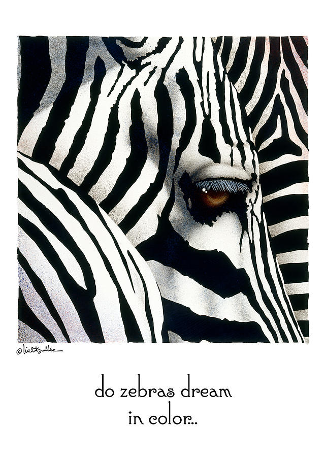 Will Bullas Painting - Do Zebras Dream In Color... by Will Bullas