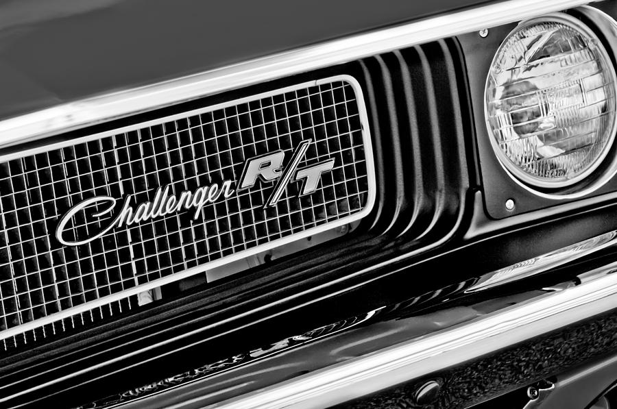 Dodge Photograph - Dodge Challenger Rt Grille Emblem by Jill Reger