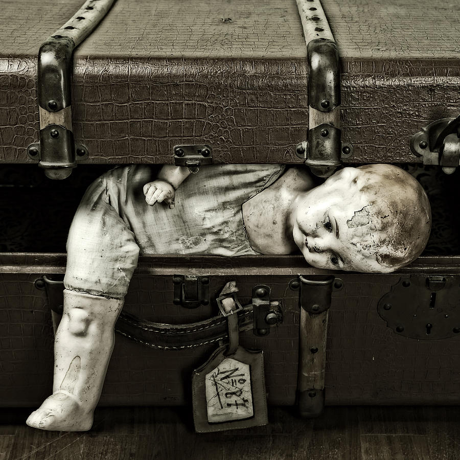 Suitcase Photograph - Doll In Suitcase by Joana Kruse
