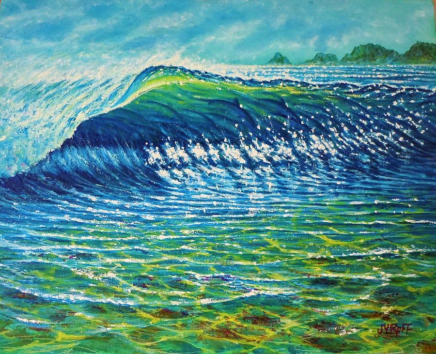 Dolphin Surf Painting by Joseph   Ruff