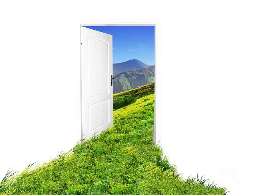 Blue Photograph - Door To New World by Michal Bednarek