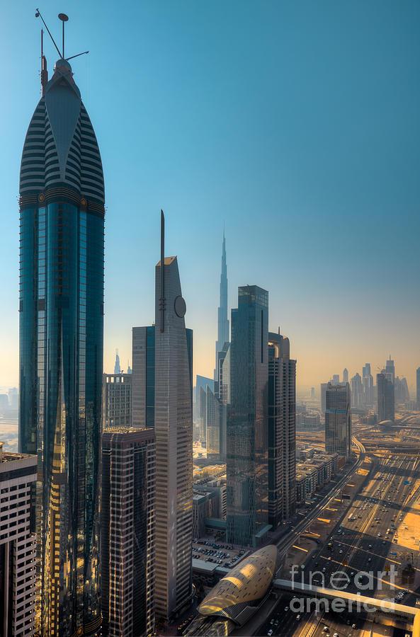 Dubai Photograph - Dubai Skyline by Fototrav Print