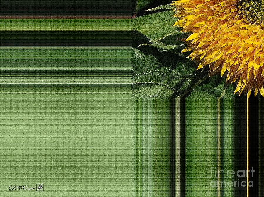 Dwarf Painting - Dwarf Sunflower Named Teddy Bear by J McCombie
