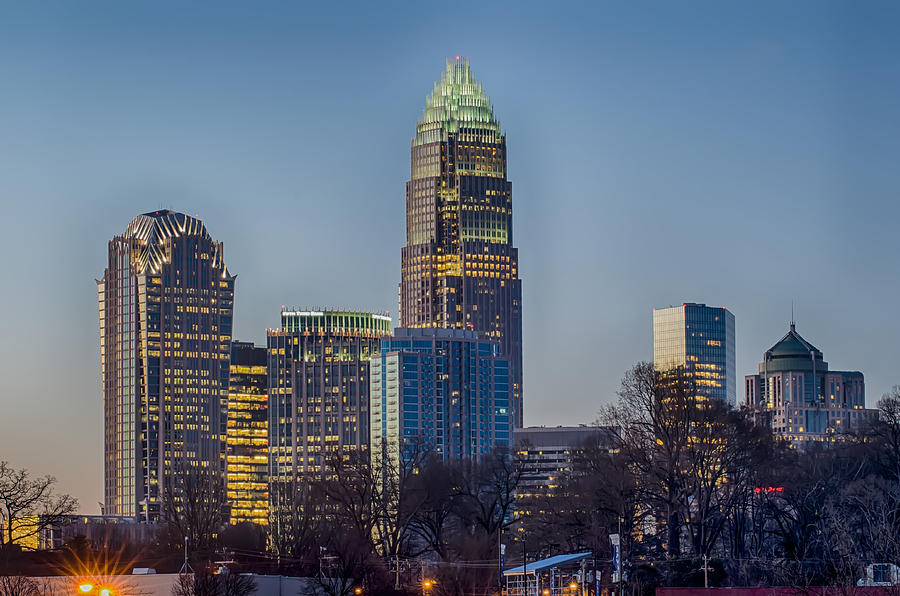 Early Photograph - Early Morning In Charlotte Nc by Alex Grichenko