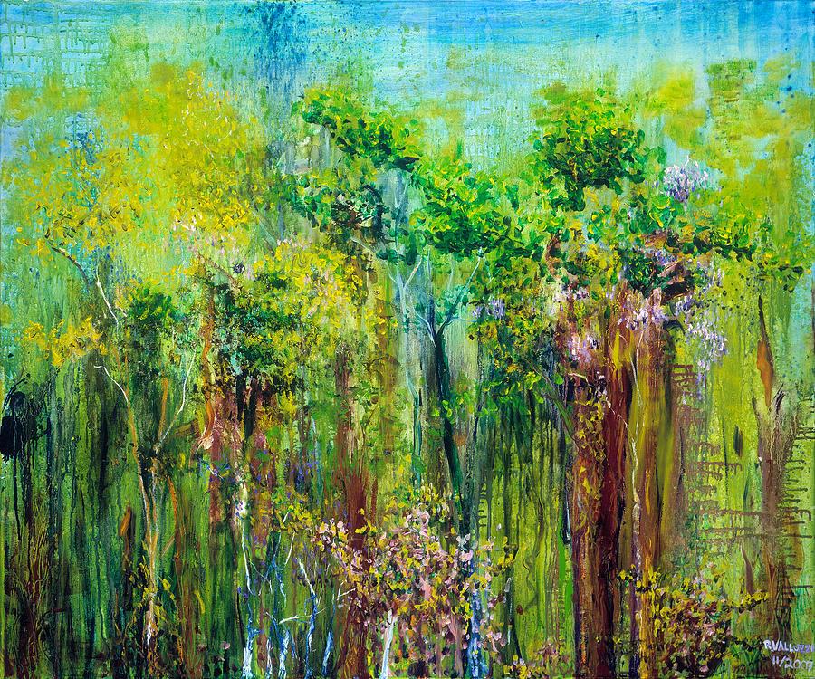 Forest Painting - Edge Of Eden by Regina Valluzzi