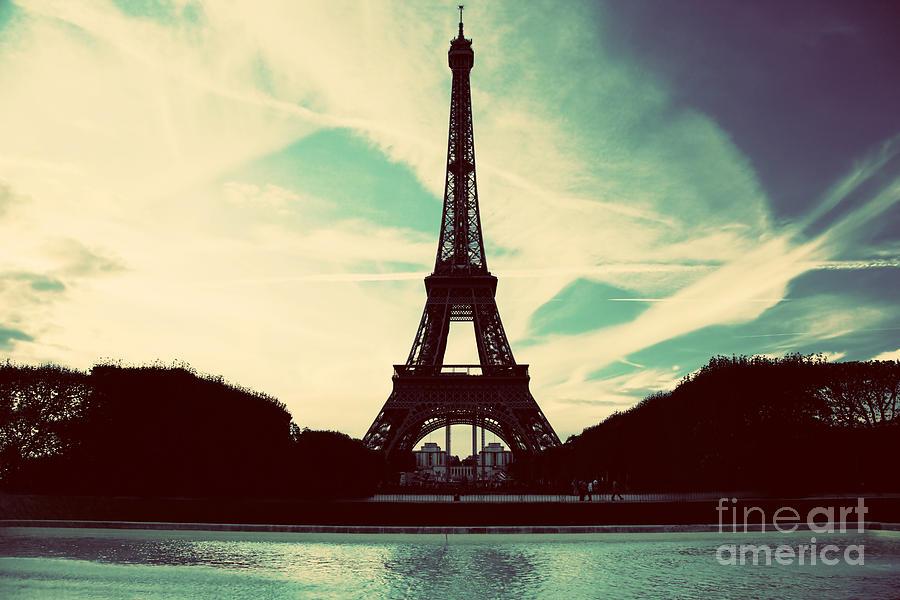 Eiffel Photograph - Eiffel Tower In Paris Fance In Retro Style by Michal Bednarek