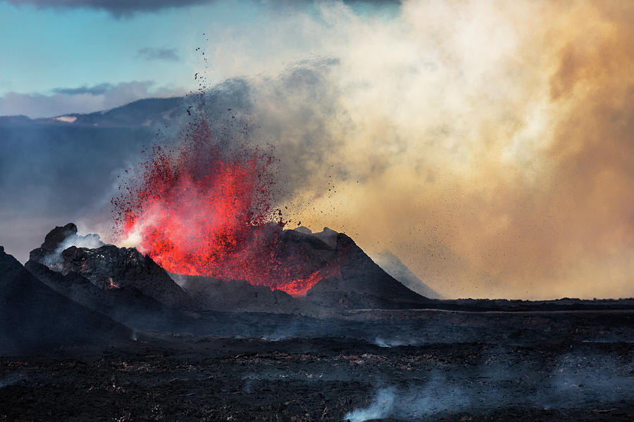 Eruption, Holuhraun, Bardarbunga 3 Photograph by Arctic-images