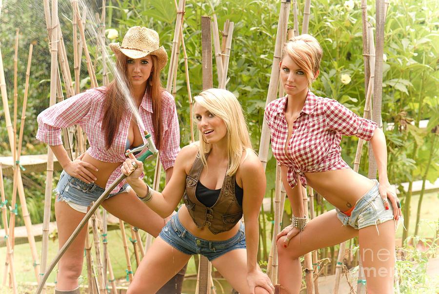 Redneck Photograph - 3 Farm Girls by Jt PhotoDesign