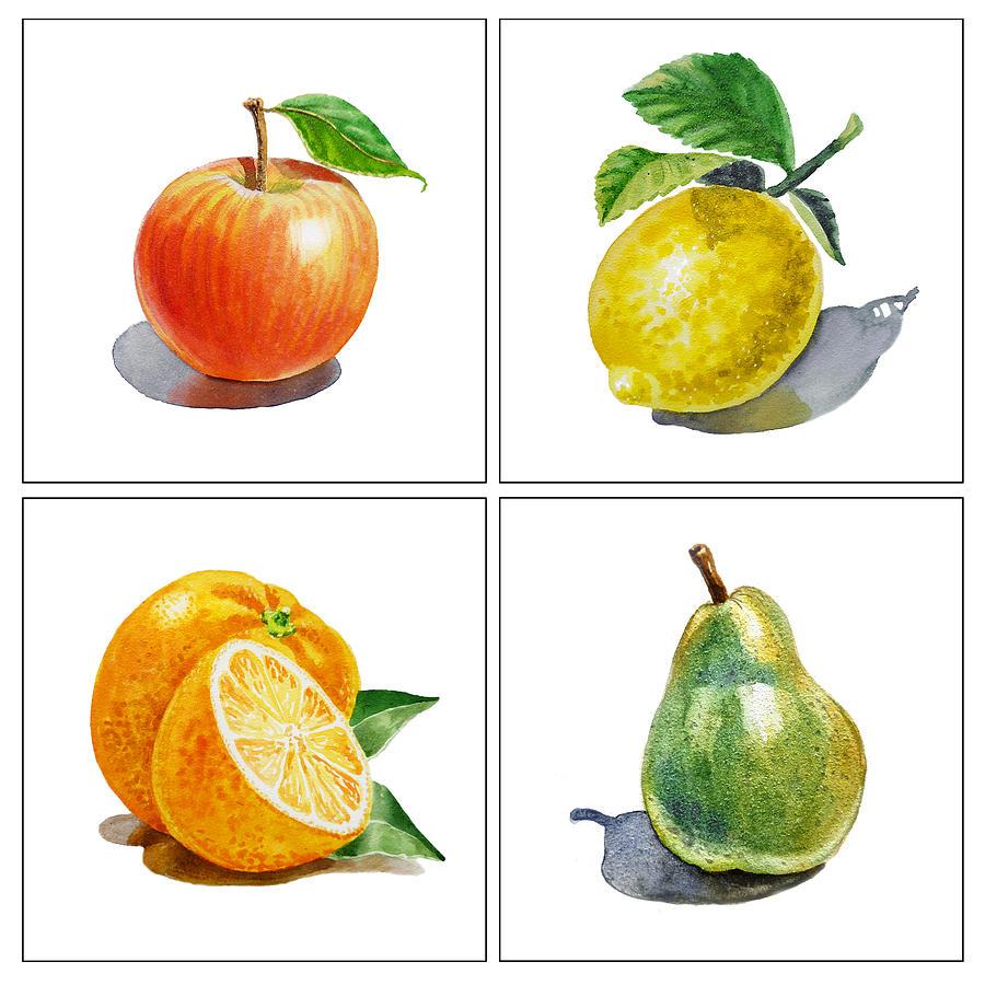Apple Painting - Farmers Market Delight  by Irina Sztukowski