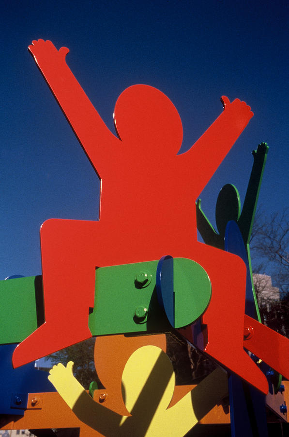 Colorful Sculpture - Fathers And Sons by Peter Michel