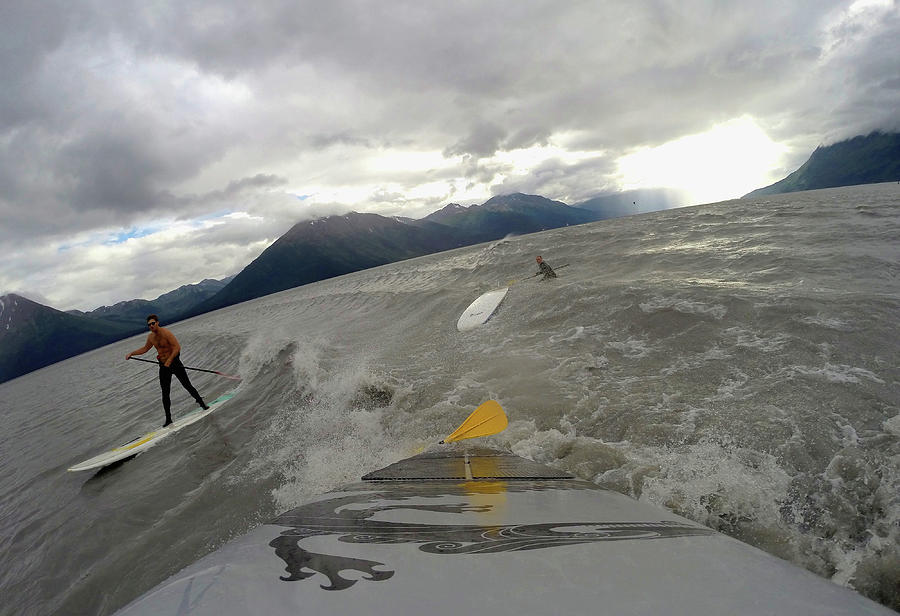 Feature - Bore Tide Surfing In Alaska Photograph by Streeter Lecka